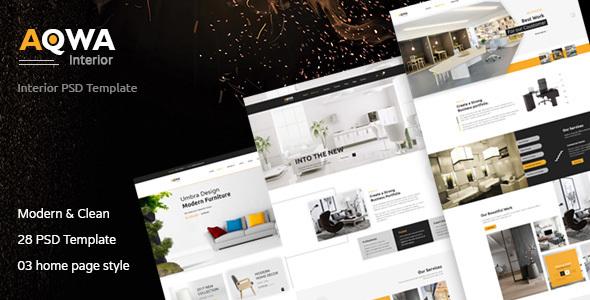 Aqwa - Interior and Furniture PSD Template - Creative PSD Templates TFx Arron Mel