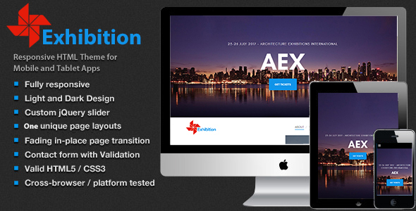 Archi - Interior Design exhibition website template - Creative Site Templates TFx Shaquille Cavan