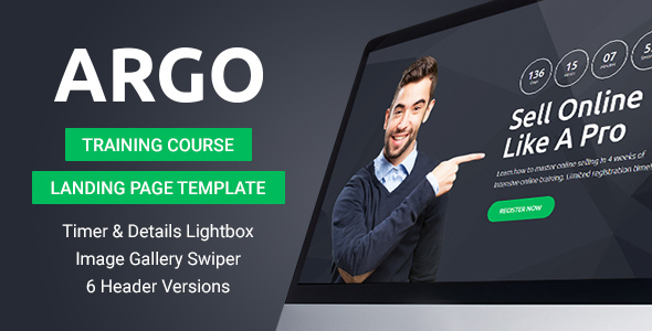 Argo - Training Course Landing Page Template - Miscellaneous Landing Pages TFx Marmaduke Frank