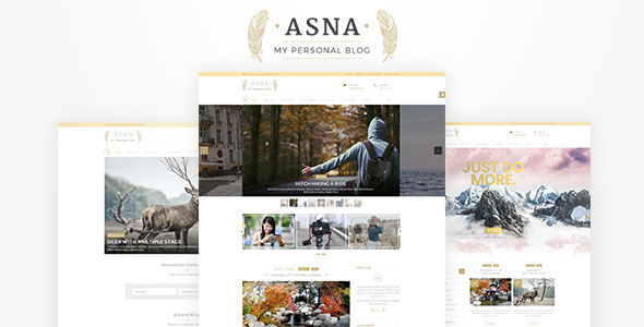 Asna | WordPress Personal Blog - Blog / Magazine WordPress TFx Curtis Sanford