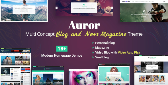 Auror- Blog Magazine WordPress Theme - Personal Blog / Magazine TFx Lindon Neil