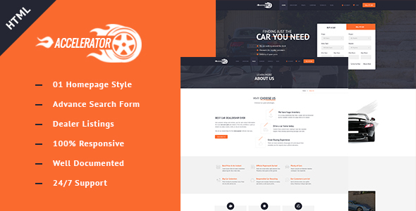 Auto Mobile Responsive Car Dealer Html template - Business Corporate TFx Burt Britton