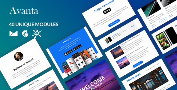 Avanta Email-Template + Online Builder - Newsletters Email Templates TFx Lawrence Shou