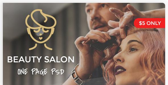 Beauty Salon - One Page PSD Template - Health & Beauty Retail TFx Raynard Jun'ichi