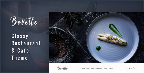 Bevette - classy restaurant & cafe theme - Restaurants & Cafes Entertainment TFx Gladwin Grahame