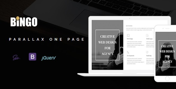 Bingo - One Page Parallax - Creative Site Templates TFx Perry Elvin