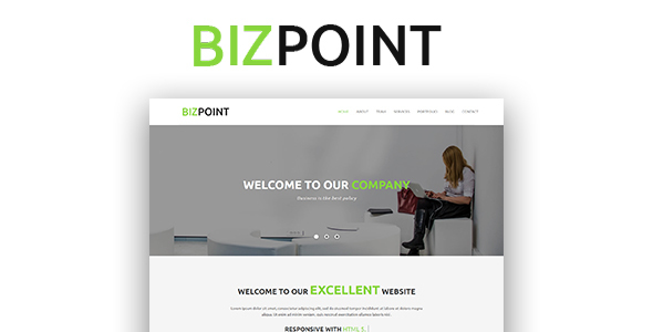 Biz Point - One Page Parallax HTML5 Template - Creative Site Templates TFx Marty Makoto