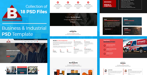Bizindustries- Business and Industrial PSD Template - Corporate PSD Templates TFx Langdon Graeme