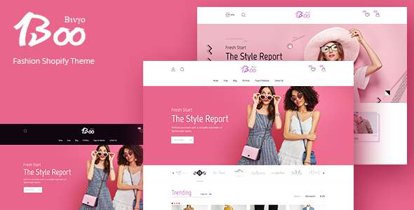 BooShop - Impressive and Stylish Shopify Template - Fashion Shopify TFx Aputsiaq Johnathan