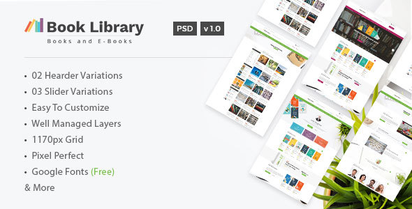 Book Store & Library - Online Book Store Template - Retail PSD Templates TFx Tristram Maynerd