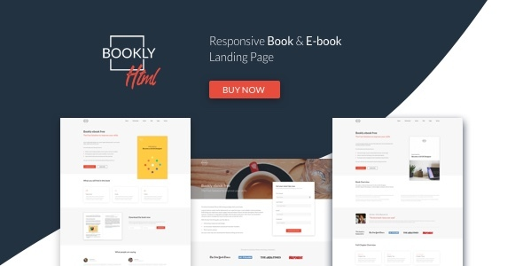 Bookly - The Perfect Landing Page, Book & E-book. Boost Your Conversions. - Landing Pages Marketing TFx Eldred Josh