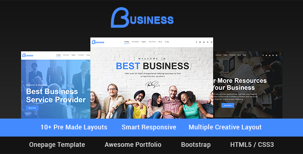Business - Smart Responsive Multipurpose HTML5 Template - Corporate Site Templates TFx Putu Adair