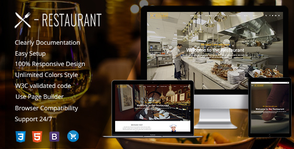 Cafe & Restaurant - Food and Recipe WordPress Theme - Restaurants & Cafes Entertainment TFx Jeffrey Forrest