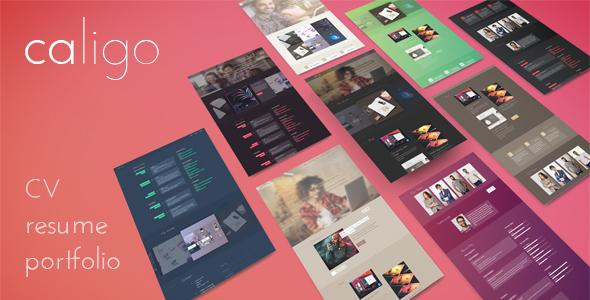 Caligo - Portfolio / Resume & CV,  Bootstrap 4 - Portfolio Creative TFx Juurou Rolph