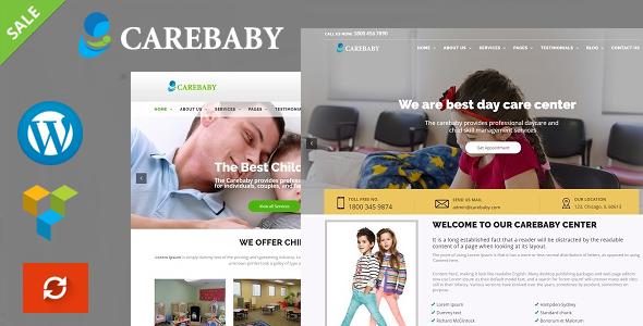CareBaby - Day Care & School WordPress Theme - Business Corporate TFx Kris Kingston