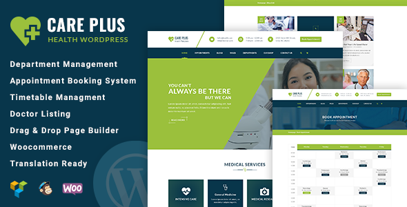 CarePlus - Responsive Medical WordPress Theme - Health & Beauty Retail TFx Ryouichi Jaiden