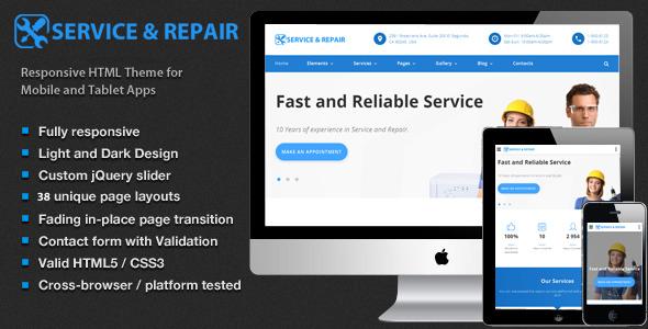 Center repair – Home Maintenance, Repair Services HTML Template – Corporate Site Templates TFx Bridger Tyron