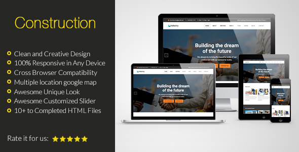 Construction HTML Responsive Template – Creative Site Templates TFx Made Suleiman