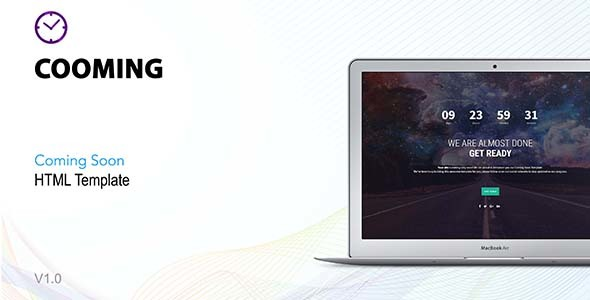 Cooming - Coming Soon HTML Template - Under Construction Specialty Pages TFx Purnama Jun
