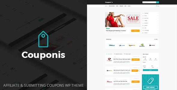 Couponis - Affiliate & Submitting Coupons WordPress Theme - Directory & Listings Corporate TFx Hiram Benjamin