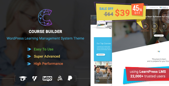 Course Builder | WordPress Learning Management System Theme & Elearning Software - Education WordPress TFx Charlton Brendan