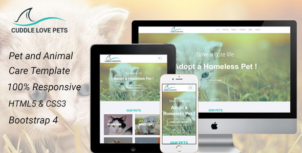Cuddle Love Pet – A Complete Pet Shop, Job directory HTML5 Template. – Creative Site Templates TFx Tarquin Dave