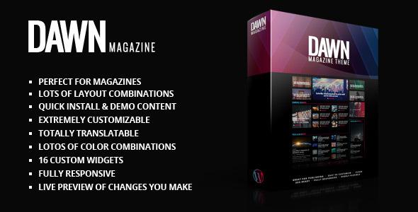 Dawn Magazine Theme - News / Editorial Blog / Magazine TFx Abner Redd