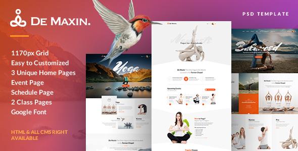 De Maxin - Yoga PSD Template - Health & Beauty Retail TFx Stew Vedastus