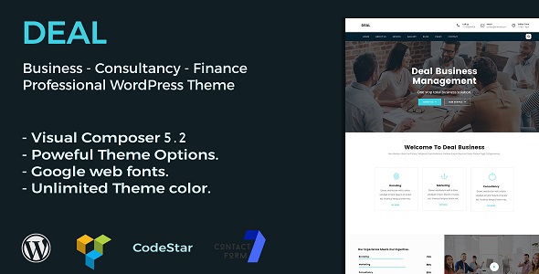 Deal | Consulting & Business WordPress Theme - Business Corporate TFx Raven Timothy