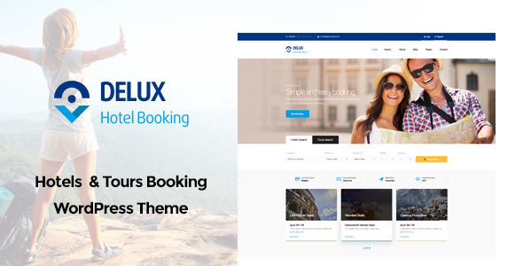 Delux - Online Hotel Booking WordPress Theme - Retail WordPress TFx Russell Florence