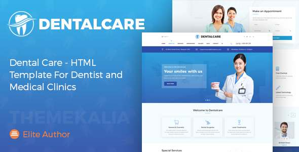 Dental Care - HTML Template For Dentist and Medical Clinics - Health & Beauty Retail TFx Neal Marlin