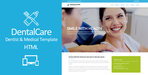 Dental Care - Responsive Dentist & Medical HTML Template - Health & Beauty Retail TFx Confucius Woodrow