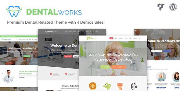 DentalWorks - Dental Related WordPress Theme - Health & Beauty Retail TFx Jayson Peyton