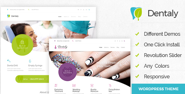 Dentaly – Dental Care WordPress Theme – Health & Beauty Retail TFx Gresham Ricky