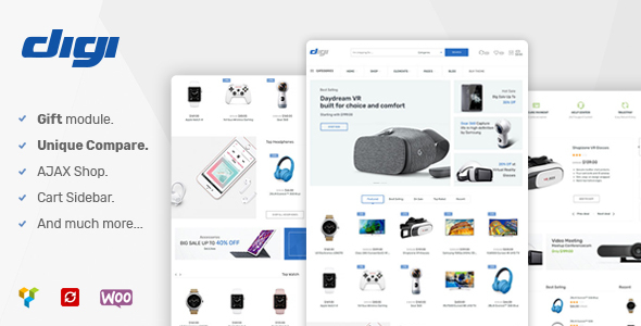 Digi - Electronics Woocommerce Theme - WooCommerce eCommerce TFx Trev Logan