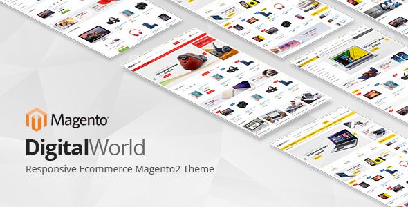 Digitalworld - Responsive Magento 2 Theme - Magento eCommerce TFx Josh Kenshin