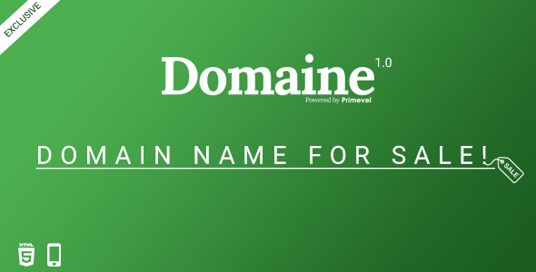 Domaine -  Responsive Domain For Sale Template - Miscellaneous Specialty Pages TFx Wilmer Wallis