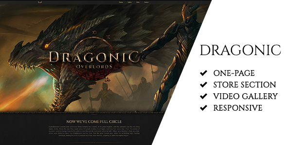 Dragonic: The Ultimate Premium Gaming Landing Page - Landing Pages Marketing TFx Hovo Walton