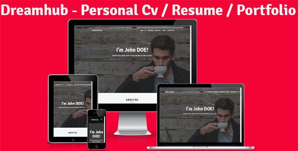 Dreamhub – Personal Resume-CV-Portfolio HTML Template – Personal Site Templates TFx Cortney Pancras