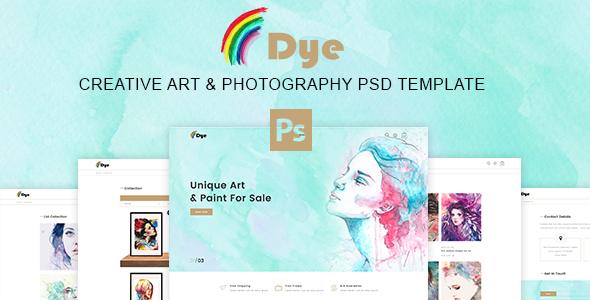Dye – MultiPurpose Creative Art & Photography PSD Template – Retail PSD Templates TFx Rylan Celestine