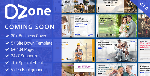 Dzone- Multipurpose Comming Soon Mobile Responsive Template For Multiple Business - Specialty Pages Site Templates TFx Constant Dezi