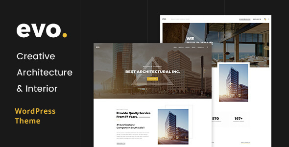 EVO - Creative Architecture & Interior WordPress Theme - Portfolio Creative TFx Gideon Rylan