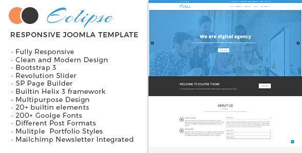 Eclipse - Multipurpose Responsive Joomla Theme - Joomla CMS Themes TFx Weldon Sigmund