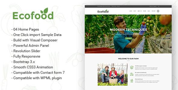 Ecofood - Responsive Organic Store & Farm WordPress Theme - Food Retail TFx Kisecawchuck Dashiell