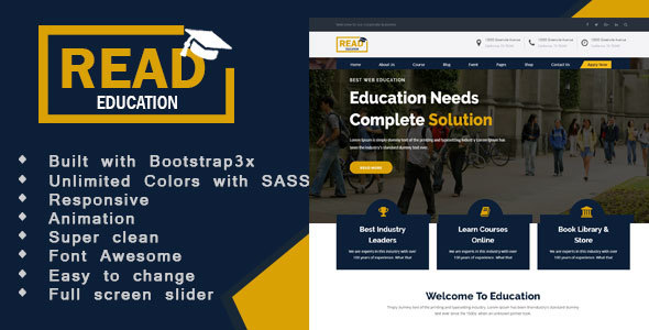 Education - Education, Academy & Training Courses - Corporate Site Templates TFx Cullen Lawson