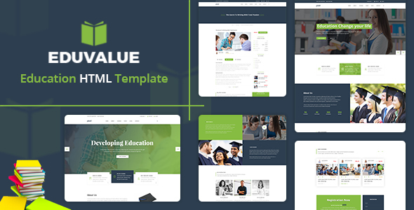 Eduvalue  - Education HTML Template - Nonprofit Site Templates TFx Orval Freeman