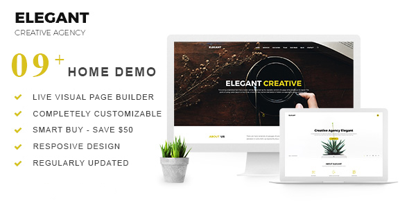 Elegant | Creative Agency WordPress Theme - Creative WordPress TFx Daley Waiteng