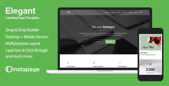Elegant - Minimal Instapage Landing Page - Instapage Landing Pages Marketing TFx Trafford August
