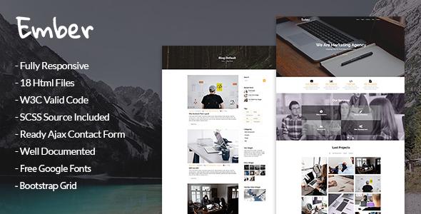 Ember - Marketing Agency HTML Template - Marketing Corporate TFx Washington Urban
