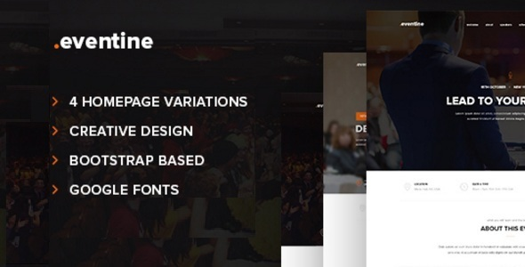 Eventine - Conference & Event OnePage HTML/CSS Template - Events Entertainment TFx Chadwick Eden